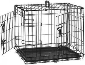 Amazonbasics cage pliante en métal avec 2 portes pour chien