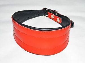 Collier chien lévrie levrette barzoï rouge neuf en cuir