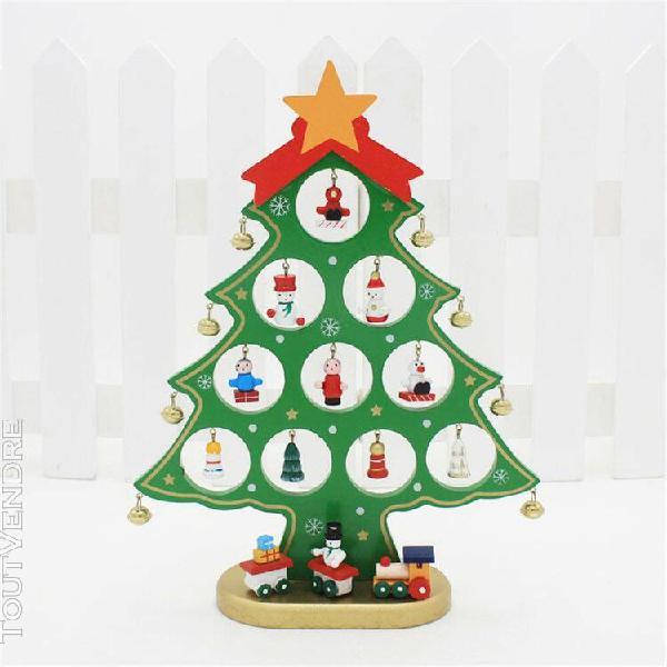 Decoration de noel christmas tree santa claus snowman wooden