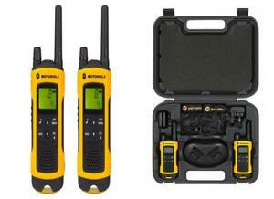 Motorola paire de talkies walkies t80ex portée en champs