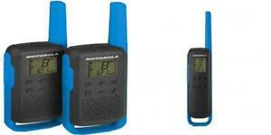 Motorola talkie walkie twin pack t62 bleu