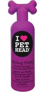 Pet head chien shampooing feeling flaky pour peaux sèches