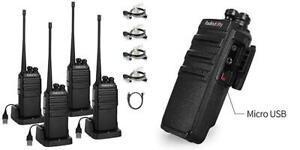 Radioddity ga-2s talkie walkie professionnel 4 pcs+ 1 câble
