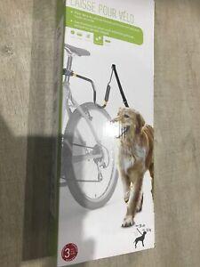 Support avec laisse pour chien à fixer au vélo ressort