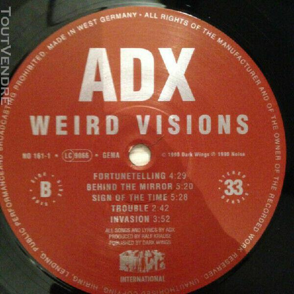 Adx/weird visions french hard rock /german press 1990 (ex co