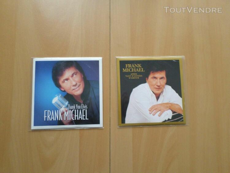 Beau petit lot de 2 cd singles 2 titres de frank michael en