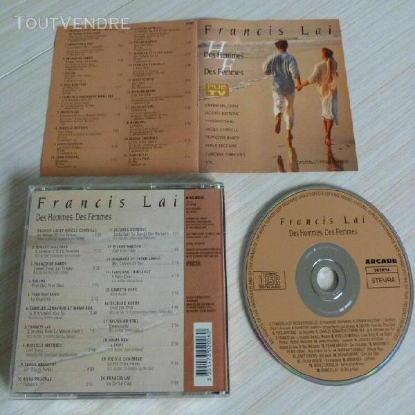 Cd album francis lai des hommes des femmes 20 titres 1993 jo