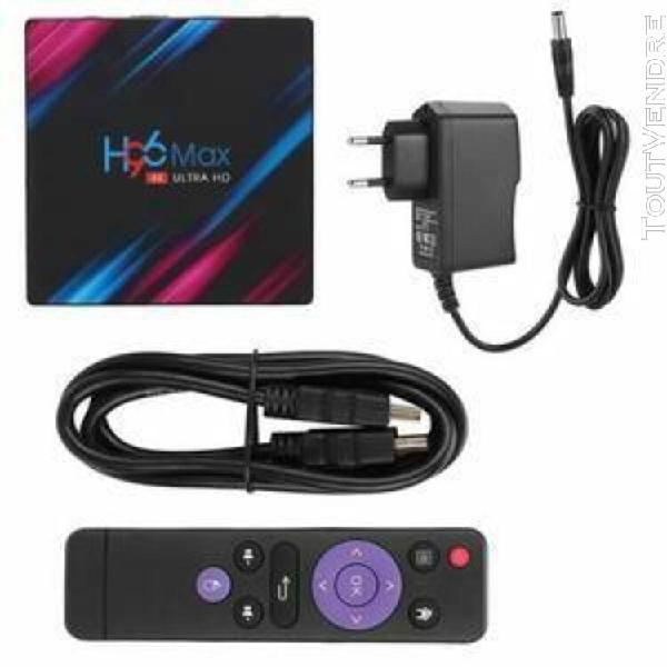 H96 max 4 + 64g dual band wifi + bt tv décodeur smart tv