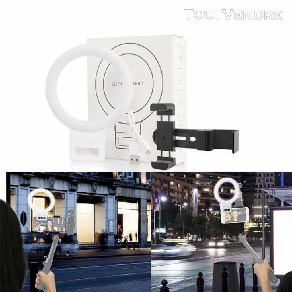 light ring avec usb stand 3 modes led video ring photographi