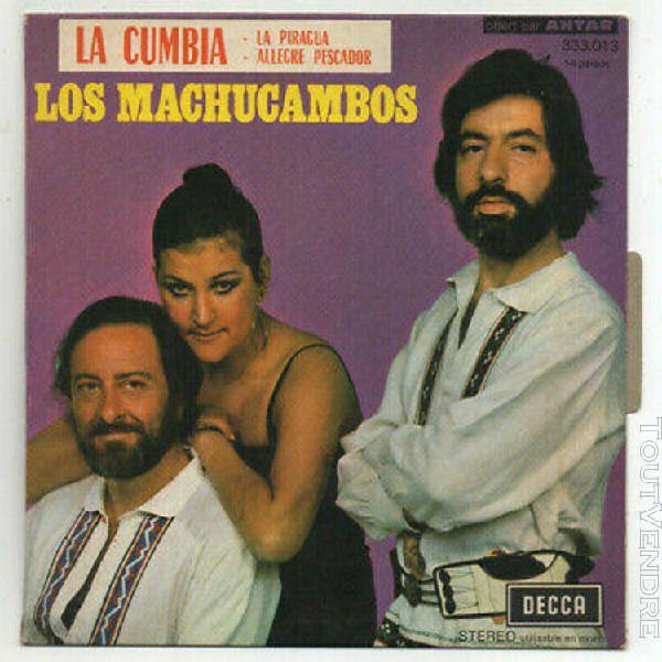 """Los machucambos. la cumbia. rare french 7"""" 45 1971 antar sam"""