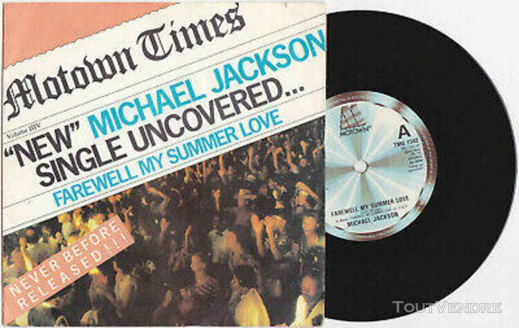"Michael jackson farewell my summer love disque 45t 7"" vinyl"