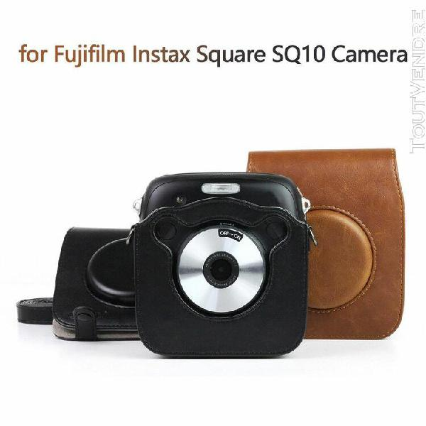 puleather vintage fujisquare sac case forfujifilm instax pla