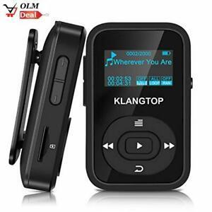 Radio fm via bluetooth] klangtop mini lecteur mp3 sportif