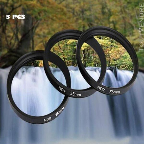 shun yi 55mm densité neutre nd2 nd4 nd8 kits de filtre pour