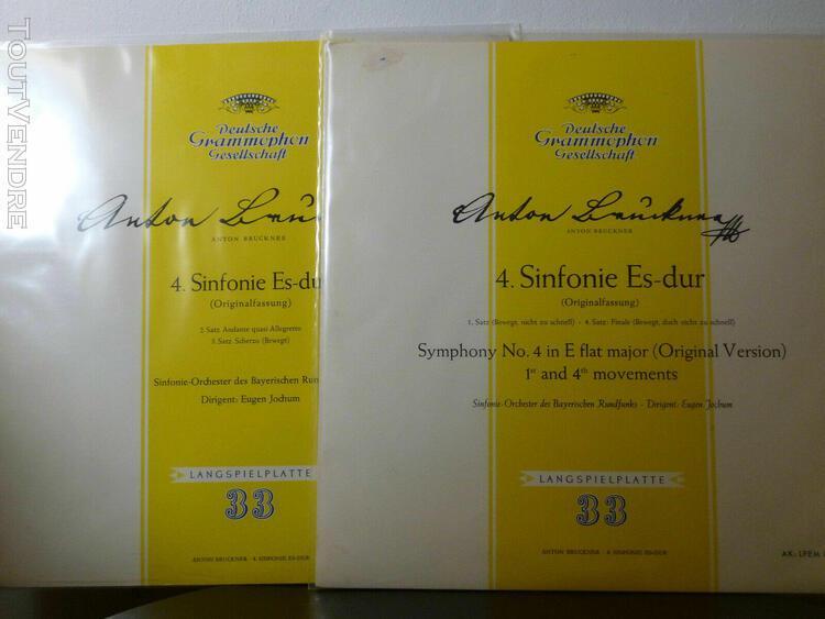 Vinyls de classique anton bruckner eugène jochum