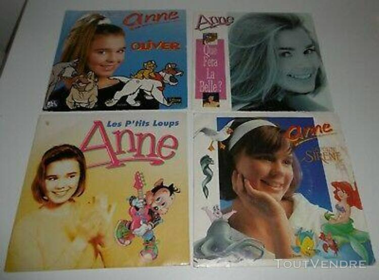 4 disques 45 tours anne - oliver, la petite sirène, la