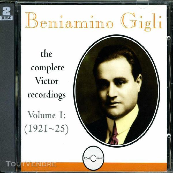 beniamino gigli: the complete victor recordings, vol. 1: 192