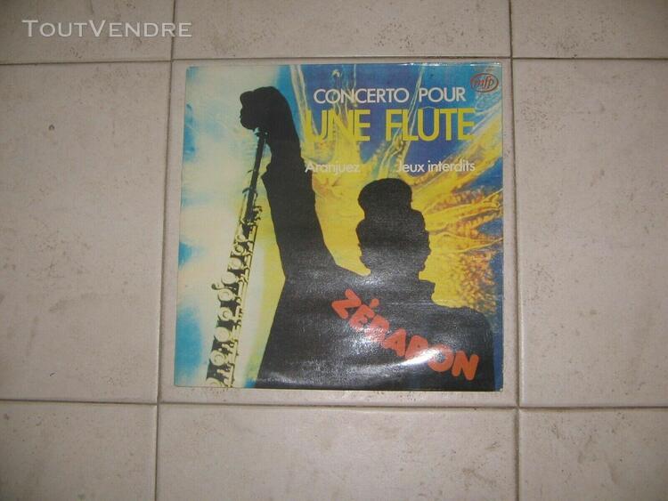original french lp zebaron concerto pour une flute 1976 ex+