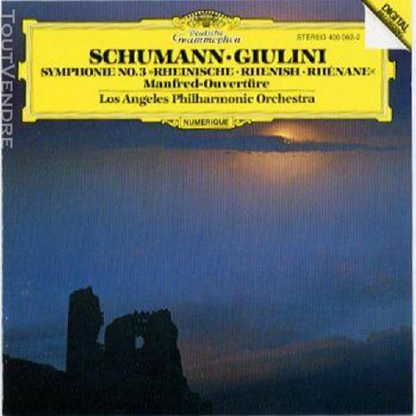 symphonie 3 - rhénane / manfred ouverture