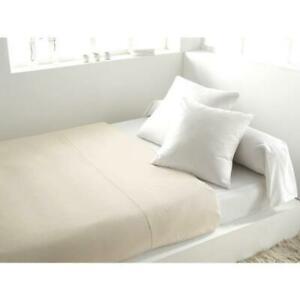 Vent du sud drap plat palace 100 coton - 240x300 cm - blanc