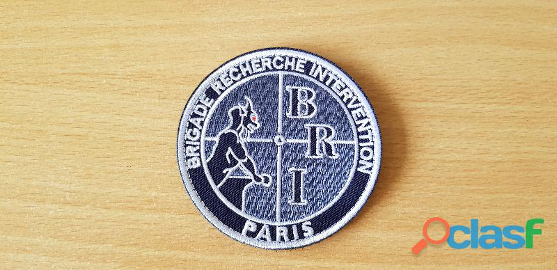 Ecusson brodé bri brigade recherche intervention paris