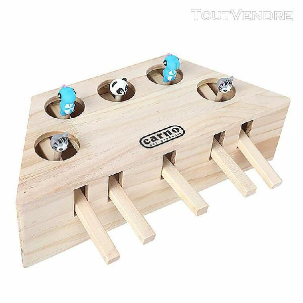Animaux intérieur chat en bois solide hunt interactive toy