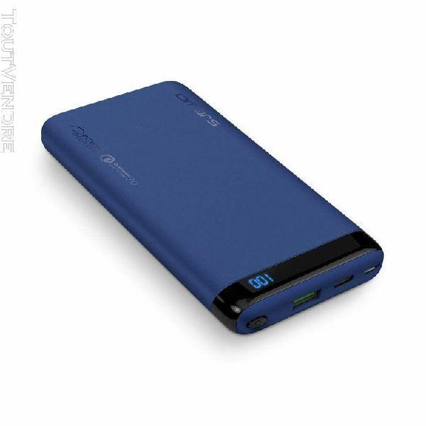 batterie externe 10000mah charge rapide 18w usb c pd2.0 entr