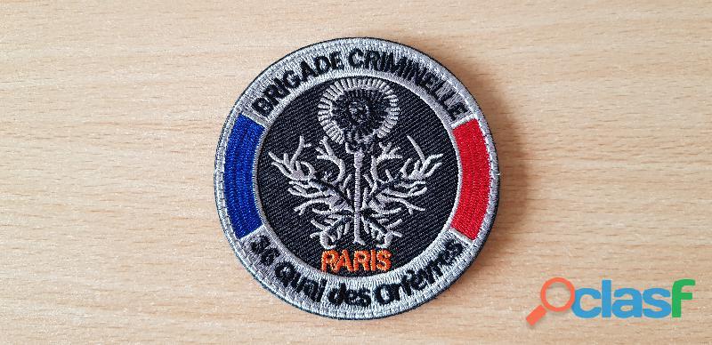 Ecusson brodé brigade criminelle 36 quai des orfèvres