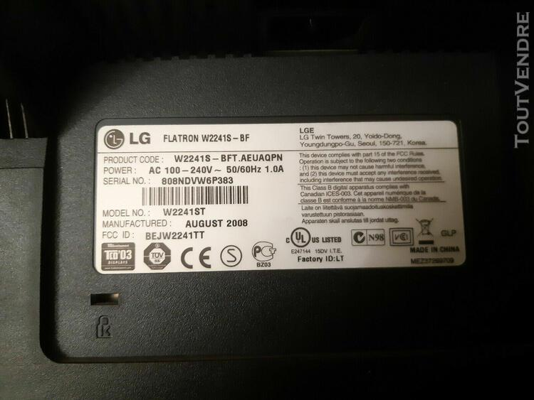 Lg flatron w2241s lcd flat screen