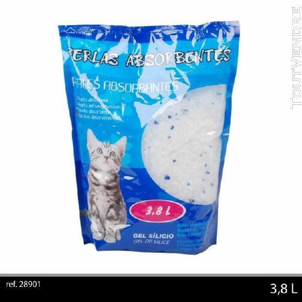 Litiere perles absorbantes gel de silice 3,8 l - pour chat