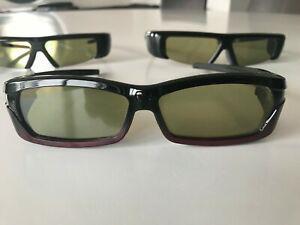 Lot de 3 lunettes 3d samsung 1 rechargeable ref: ssg2200ar +