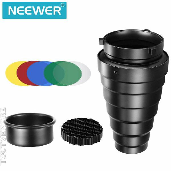 neewer kit de snoot conique en alliage d'aluminium moyen ave