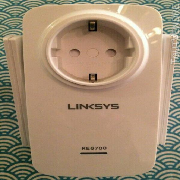 Repeteur wifi linksys re6700-ef ac1200 double bande, prise i