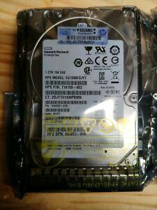 2 disques dur hp 1.2to sas 10000rpm réf eg1200fdjyt
