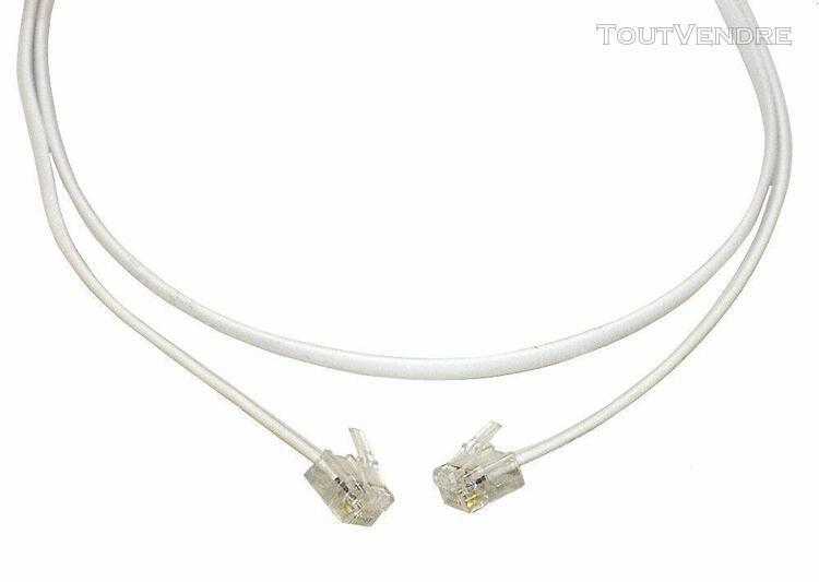 Aerzetix: câble cordon rj11 6p4p pour téléphone internet