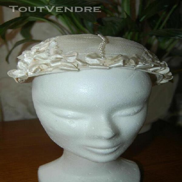 chapeau de mariage vintage