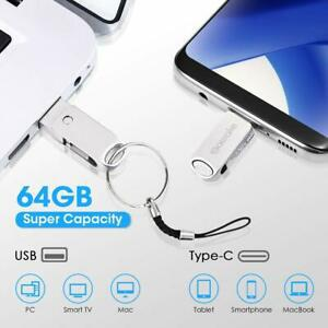 clef usb 64go en alliage d'aluminium flash drive usb