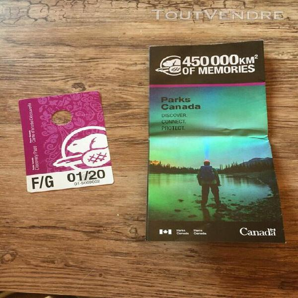 discovery pass parcs canada 01/2020