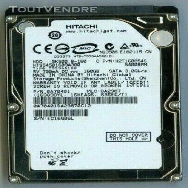 "Lot of 2 Fujitsu Mobile MHZ2160BH G2 160GB 2.5/"" SATA II Laptop Hard Drive"