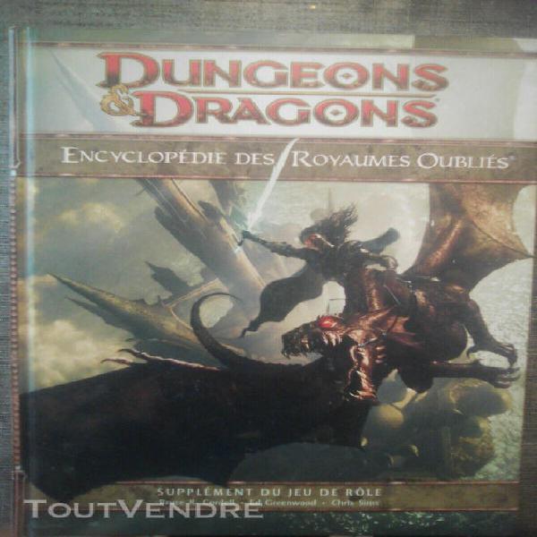donjon et dragon 4 encyclopédie des royaumes oubliées +
