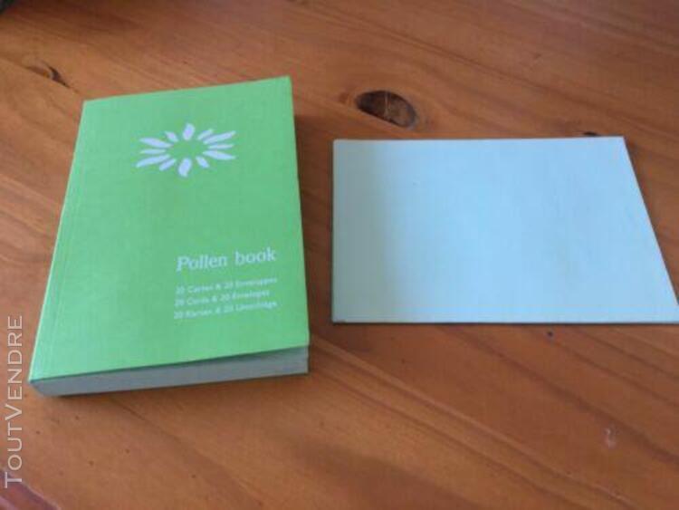 faire part 20 cartes & 20 enveloppes pollen book vierges