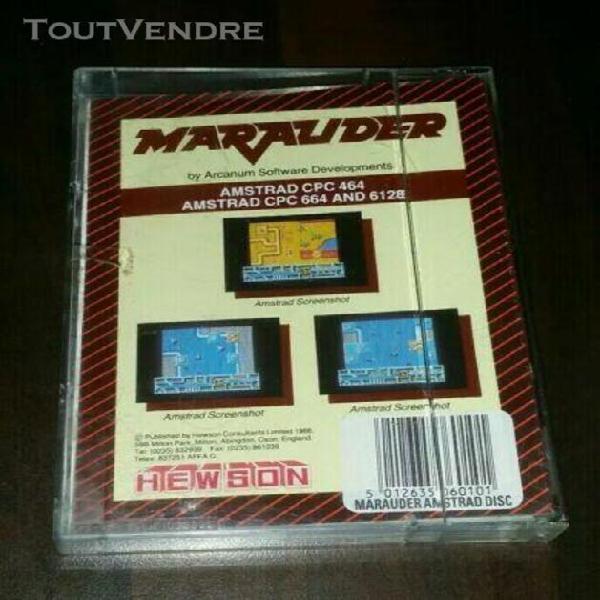 """Jeu action complet/""""marauder""""/hewson,1988 amstrad cpc 6128,6"""
