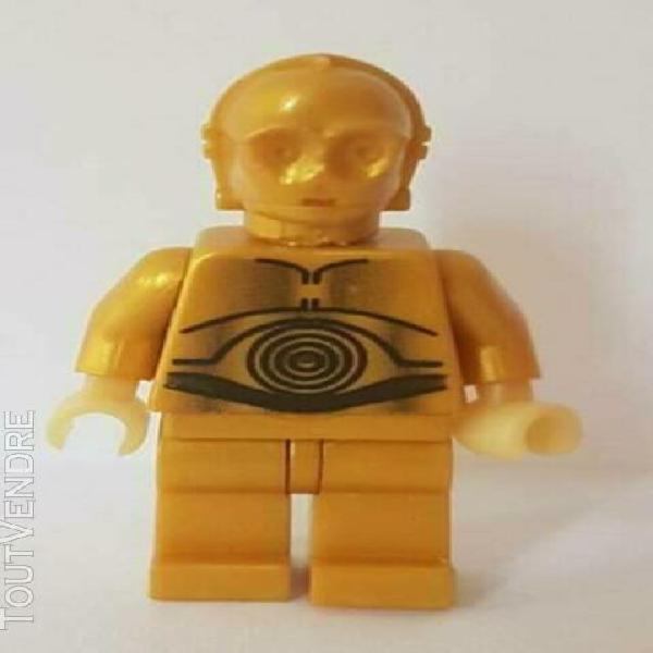 lego star wars minifigure figurine c-3po pearl light gold ha