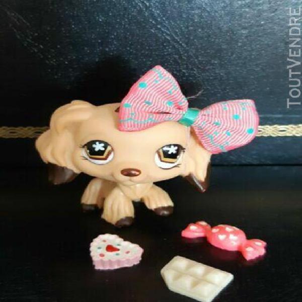 littlest pet shop chien epagneul/ petshop spaniel dog # 575