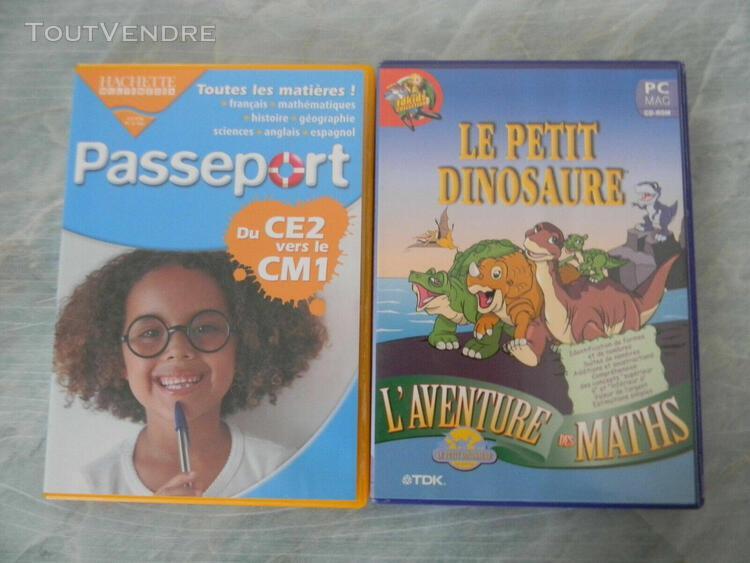 Lot 2 cd jeux pc/mac pour enfants pour windows et mac