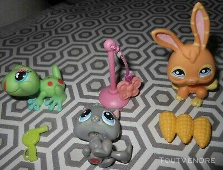 lot 3 petshop avec maïs, sèche cheveux et petit jouet