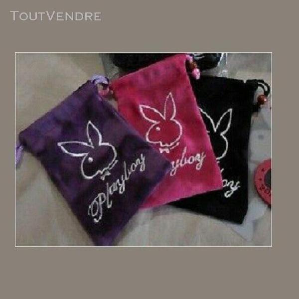 lot 3pochettes cadeau etuis sacs suedines velours**brodee pl