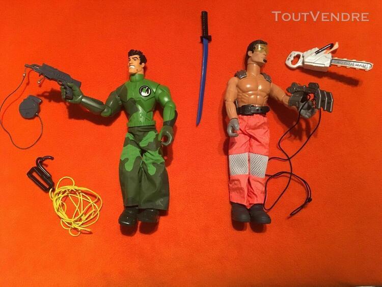 lot de 2 action man avec accessoires