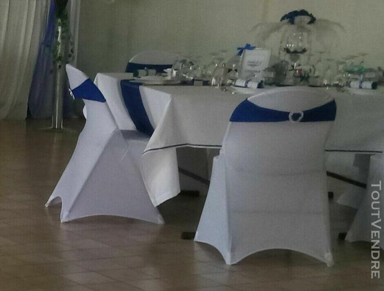 lot de 30 bandeaux lycra déco chaises mariage bleu roi