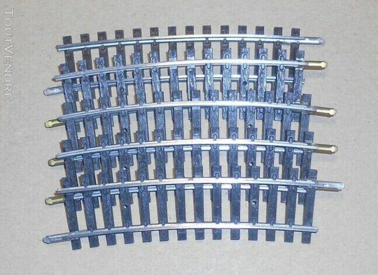 lot de rails courbes r: 385 mm 15° jouef ho